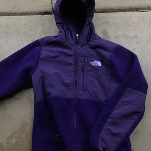 The north face Denali hoodie purple fleece small